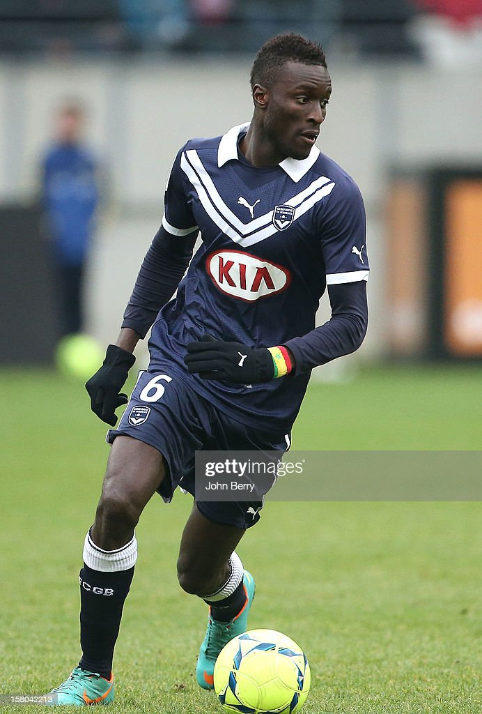 Ludovic Sane of Bordeaux in action during the French Ligue 1 match between Stade de Reims and Girondins de Bordeaux at the Stade Auguste Delaune on December 9, 2012 in Reims, France.