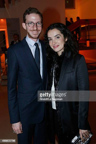 Ludovic Watine and Isabelle Vitari 'Volez Voguez Voyagez Louis Vuitton' Exhibition Opening at Le Grand Palais on December 3 2015 in Paris France