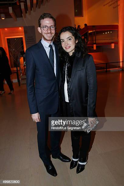 Ludovic Watine and Isabelle Vitari 'Volez Voguez Voyagez Louis Vuitton' Exhibition Opening at Le Grand Palais on December 3 2015 in Paris France
