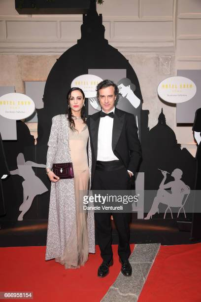 Ludovica Amati and Diego Landi attend Grand Opening Party Hotel Eden of Hotel Eden on March 28 2017 in Rome Italy