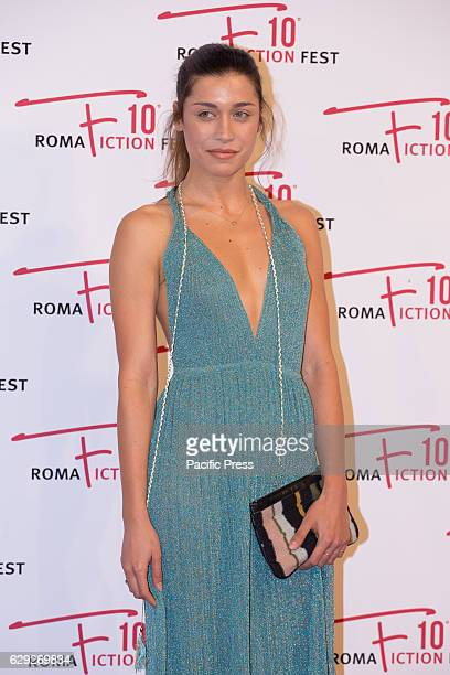 Ludovica Frasca on the red carpet for Immaturi La Serie during the 2016 Rome Fiction Fest
