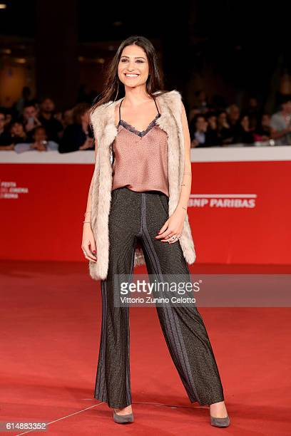 Ludovica Valli walks a red carpet for 'Sole Cuore Amore' during the 11th Rome Film Festival at Auditorium Parco Della Musica on October 15 2016 in...