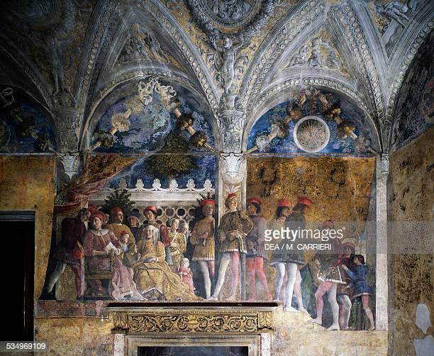 Ludovico Gonzaga Marsilio Andreasi Barbara of Brandenburg with her daughter Paula and Rodolfo Gonzaga 14651474 detail from The Court Wall fresco by...