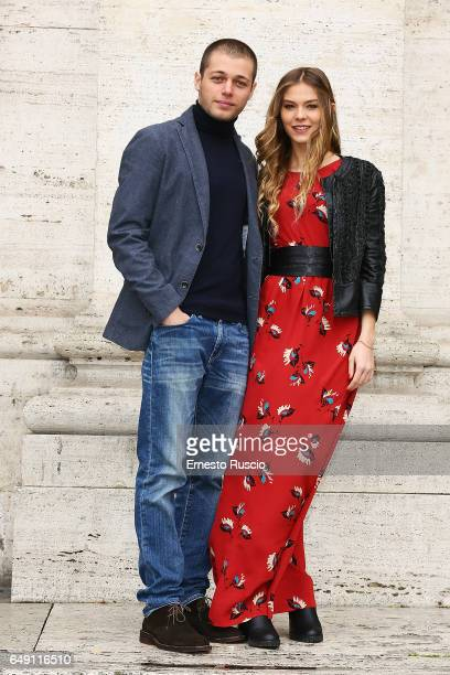 Ludovico Tersigni and Barbara Ramella attend a photocall for 'Slam Tutto Per Una Ragazza' at The Space Moderno on March 7 2017 in Rome Italy