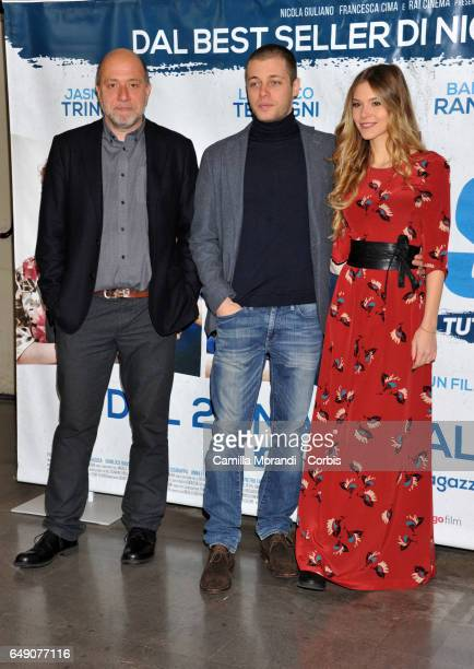 Ludovico TersigniBarbara Ramella and Andrea Molaioli attend a photocall for 'Slam Tutto Per Una Ragazza' on March 7 2017 in Rome Italy