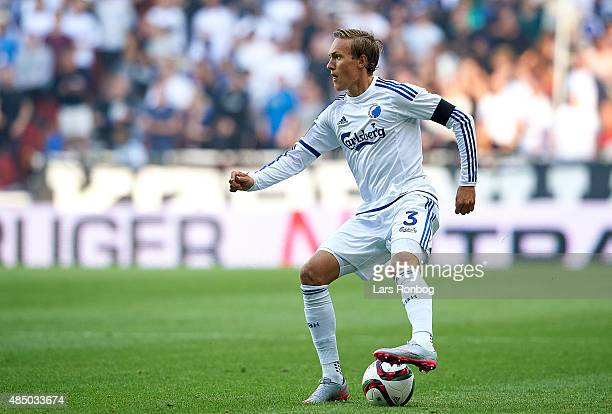 Ludvig Augustinsson of FC Copenhagen controls the ball during the Danish Alka Superliga match between FC Copenhagen and AGF Aarhus at Telia Parken...