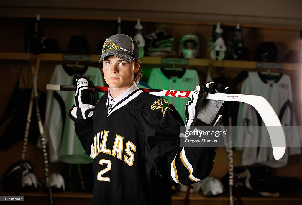 Ludvig Bystrom, 43rd overall pick by the Dallas Stars, poses for a portrait during the 2012 NHL Entry Draft at Consol Energy Center on June 23, 2012 in Pittsburgh, Pennsylvania.