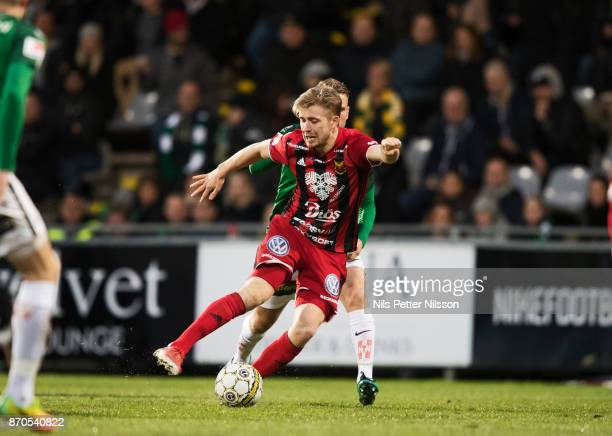 Ludvig Fritzon of Ostersunds FK during the Allsvenskan match between Jonkopings Sodra IF and Ostersunds FK at Stadsparksvallen on November 5 2017 in...