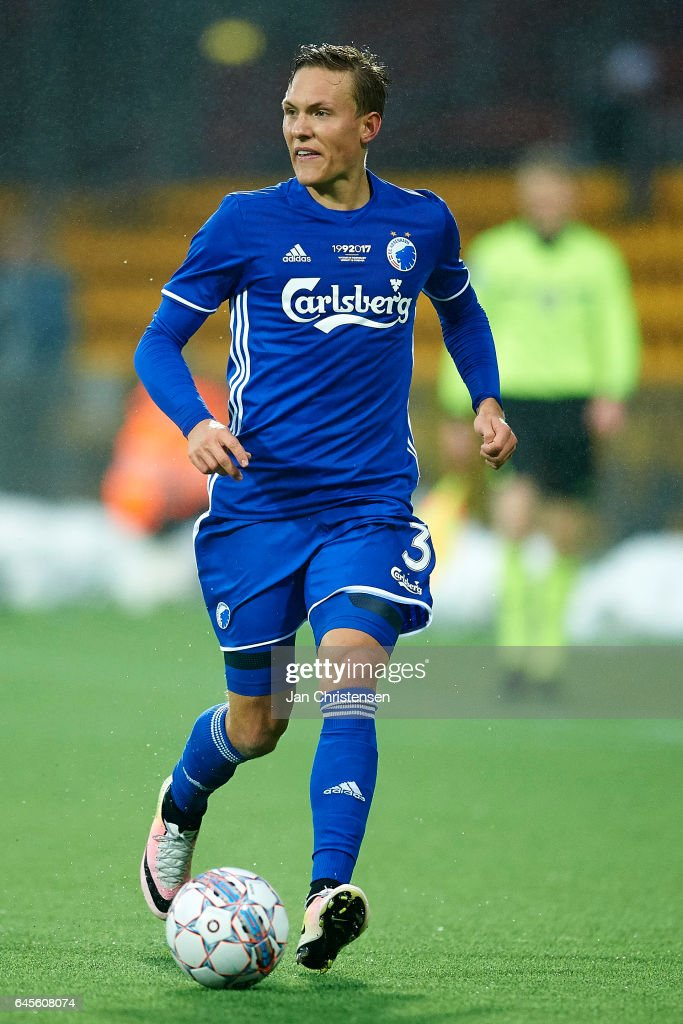 Ludwig Augustinsson of FC Copenhagen in action during the Danish Alka Superliga match between FC Nordsjalland and FC Copenhagen at Right to Dream Park on February 26, 2017 in Farum, Denmark.