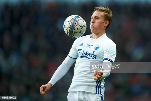 Ludwig Augustinsson of FC Copenhagen in action during the Danish Alka Superliga match between FC Copenhagen and FC Nordsjalland at Telia Parken...