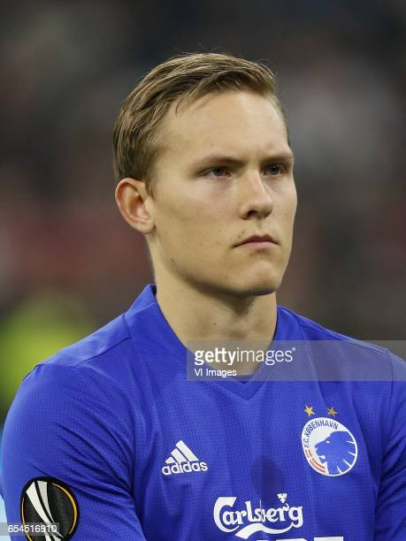 Ludwig Augustinsson of FC Copenhagenduring the UEFA Europa League round of 32 match between Ajax Amsterdam and FC Copenhagen at the Amsterdam Arena...