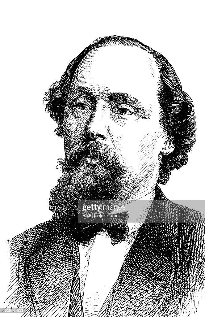 Ludwig karl eduard schneider 1809 1889 a german politician and botanist wood engraving 1880