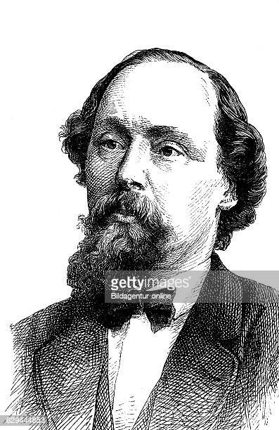 Ludwig karl eduard schneider 1809 1889 a german politician and botanist wood engraving 1880