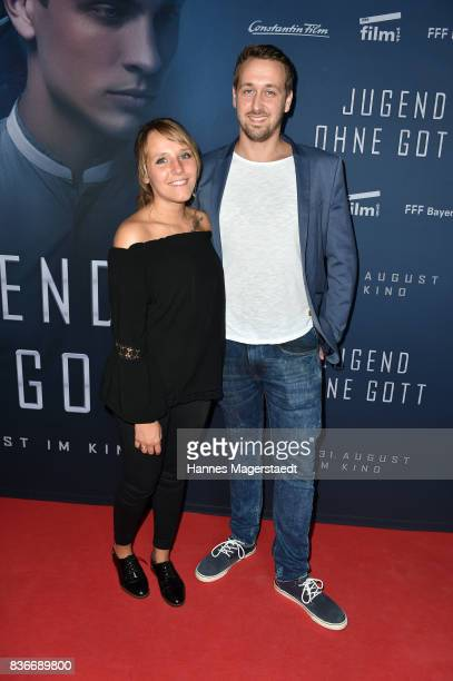 Ludwig Lehner and his wife Cathi Lehner during the 'Jugend ohne Gott' premiere at Mathaeser Filmpalast on August 21 2017 in Munich Germany