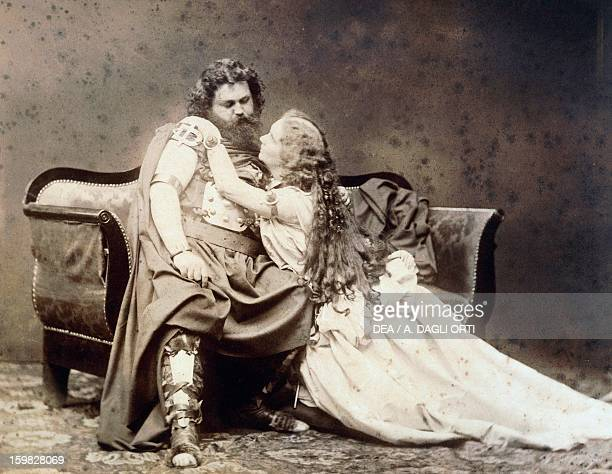 Ludwig Schnorr von Carolsfeld and his wife Malwina Garrigues in the title roles of Tristan und Isolde 18571859 by Richard Wagner at the premiere at...