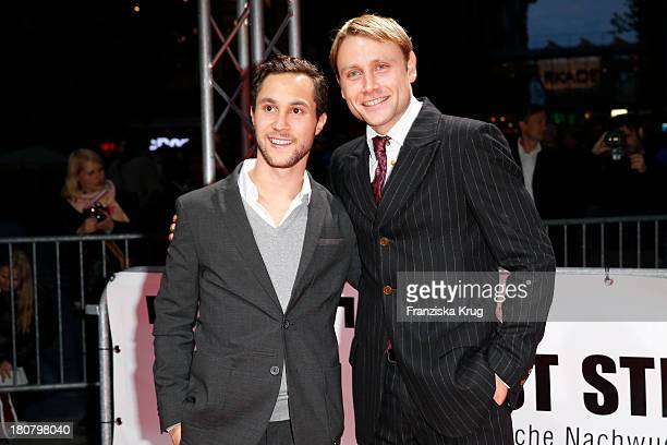 Ludwig Trepte and Max Riemelt attend the First Steps Awards 2013 at Stage Theater on September 16 2013 in Berlin Germany
