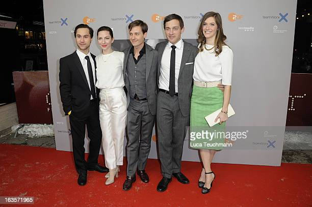 Ludwig Trepte Katharina Schuettler Tom Schilling Volker Bruch and Miriam Stein attend the Premiere 'Unsere Muetter Unsere Vaeter'at the Astor Film...
