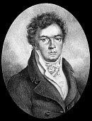 Ludwig van Beethoven german composer drawing by Wintler 1817