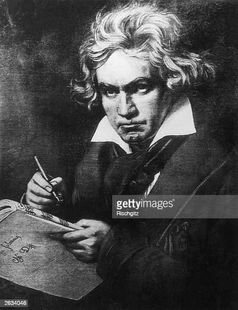 Ludwig Van Beethoven German composer regarded as on of the greatest Romantic composers Original Artwork Painting by Steiler