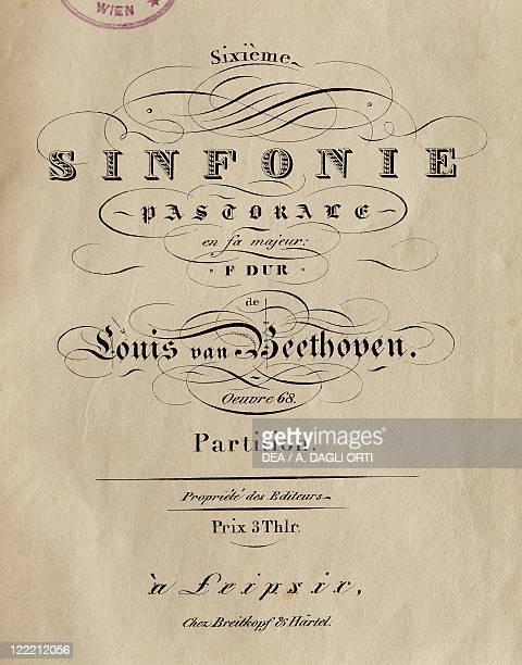 Ludwig van Beethoven Symphony No 6 in F major Op 68 'Pastoral' Frontispiece
