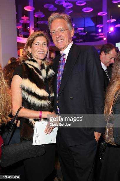Ludwig zu SalmSalm and wife Ulrike zu SalmSalm during the PIN Party 'Let's party 4 art' at Pinakothek der Moderne on November 18 2017 in Munich...
