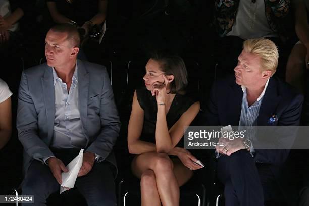 Lueder Fromm Director Global Marketing Communications MercedesBenz Lilly Becker and Boris Becker attend the Malaikaraiss Show during MercedesBenz...