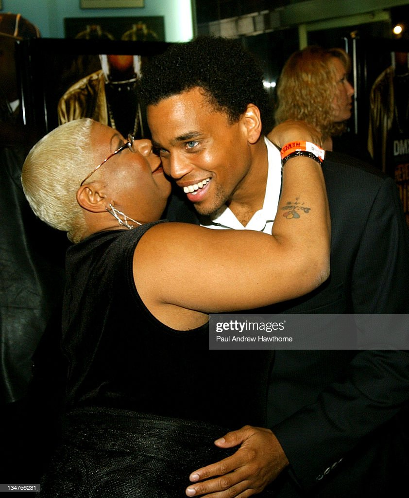 Luenell Campbell and Michael Ealy during 'Never Die Alone' New York Premiere - Inside Arrivals at Chelsea West Cinemas in New York City, New York, United States.