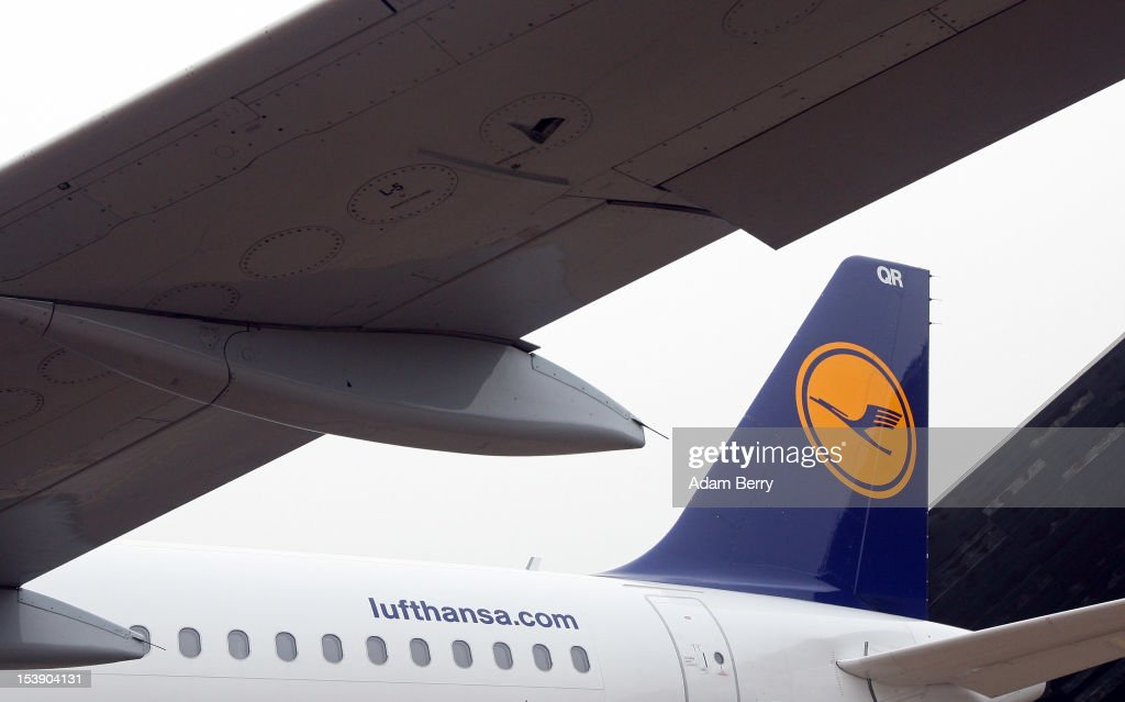 Lufthansa Airbus A320 airplane sits on the tarmac on October 11 2012 in Berlin Germany The Berlin airports and Lufthansa demonstrated winter...