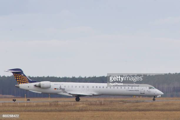 A Lufthansa plane is seen in Bydgoszcz Poland on 19 March 2017