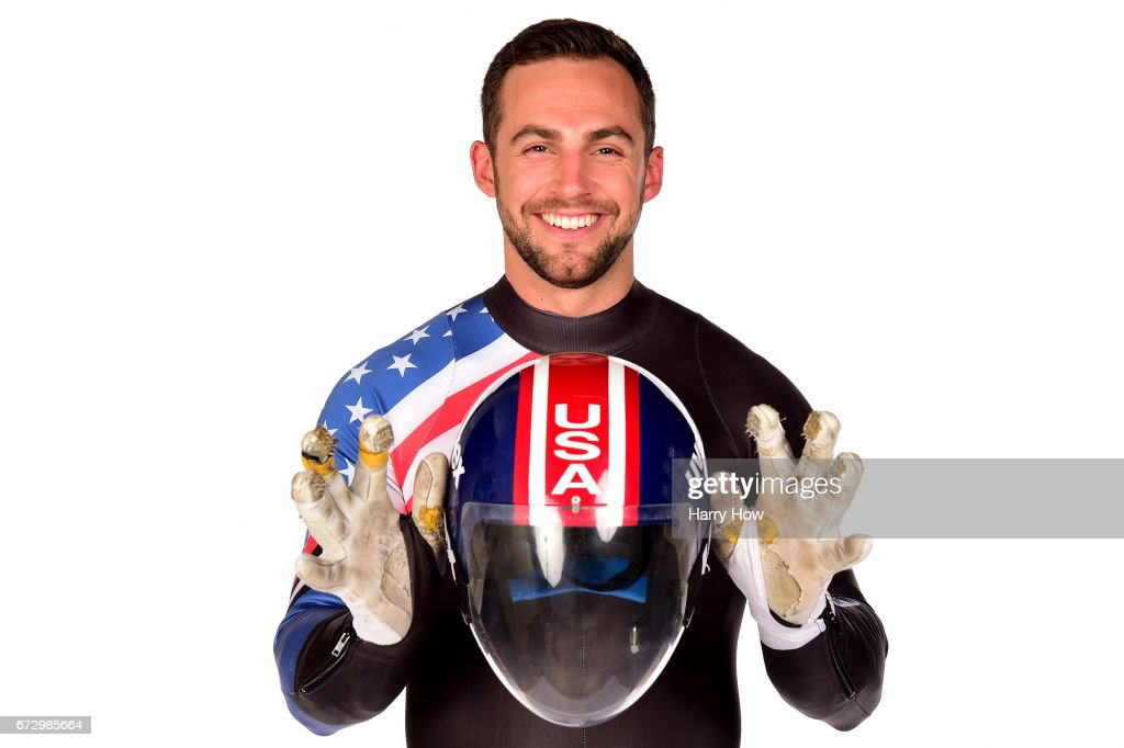 Luger Chris Mazdzer poses for a portrait during the Team USA PyeongChang 2018 Winter Olympics portraits on April 25, 2017 in West Hollywood, California.