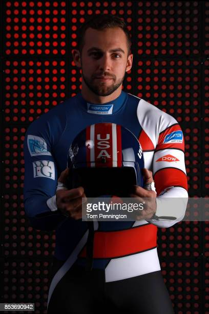 Luger Chris Mazdzer poses for a portrait during the Team USA Media Summit ahead of the PyeongChang 2018 Olympic Winter Games on September 25 2017 in...