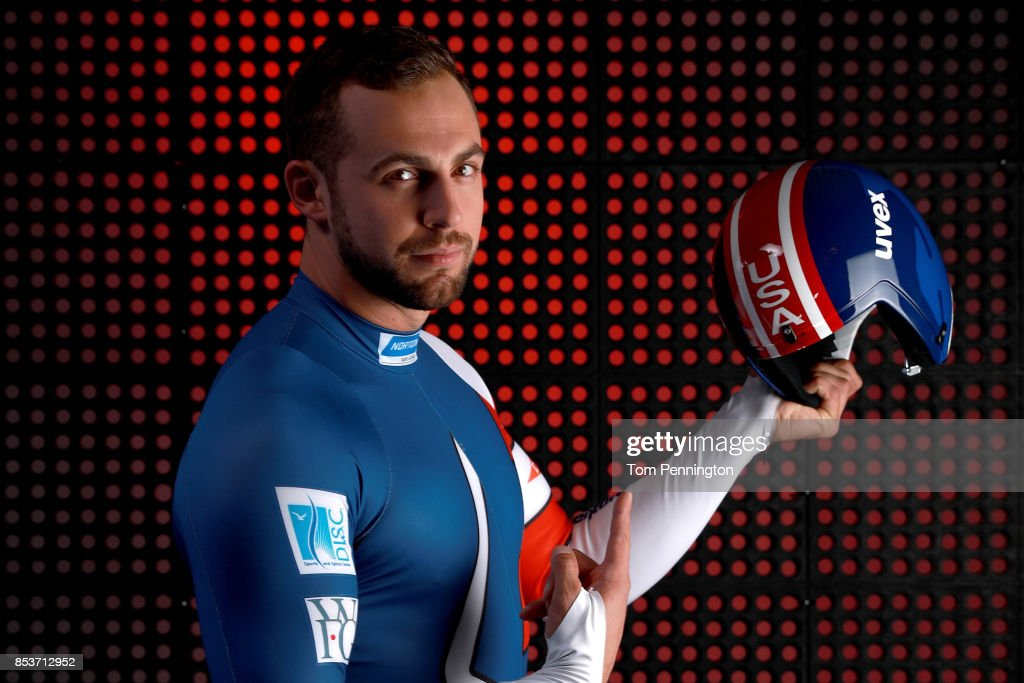 Luger Chris Mazdzer poses for a portrait during the Team USA Media Summit ahead of the PyeongChang 2018 Olympic Winter Games on September 25, 2017 in Park City, Utah.
