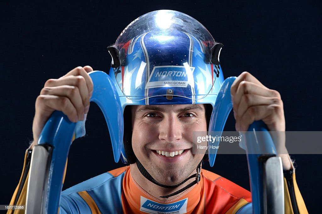 Luger Chris Mazdzer poses for a portrait during the USOC Portrait Shoot on April 27, 2013 in West Hollywood, California.