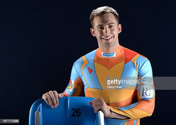Luger Chris Mazdzer poses for a portrait during the USOC Portrait Shoot on April 27 2013 in West Hollywood California