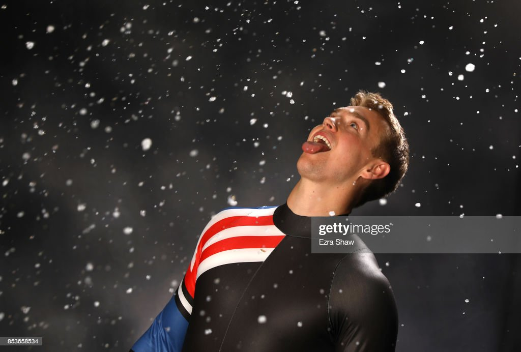 Luger Tucker West poses for a portrait during the Team USA Media Summit ahead of the PyeongChang 2018 Olympic Winter Games on September 25, 2017 in Park City, Utah.