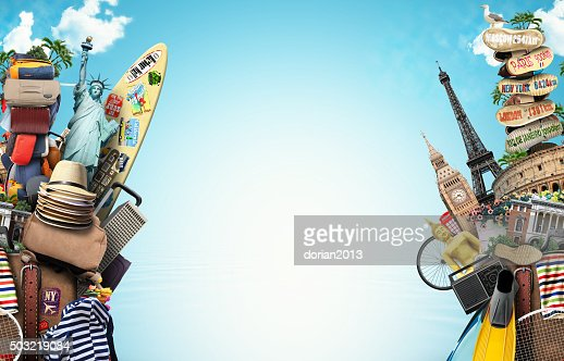 Luggage, goods for holidays : Stock Photo