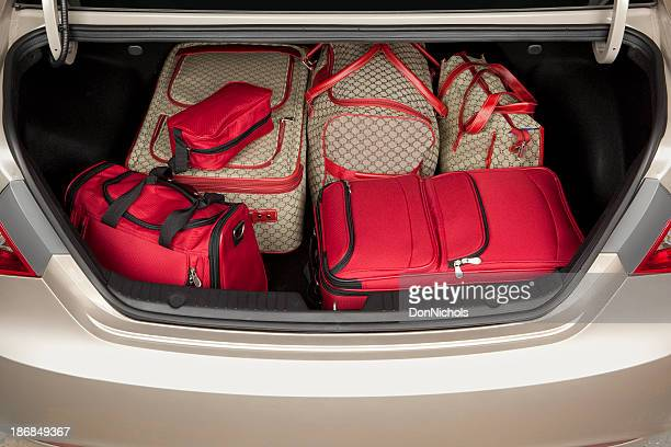 Luggage in the Trunk of a Car