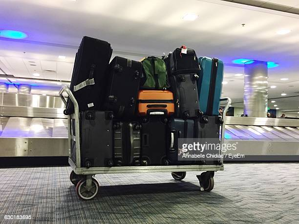 Luggage In Trolley At Airport