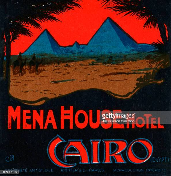 A luggage label for Mena House Hotel in Cairo by Richter and Co from 1925 in Egypt