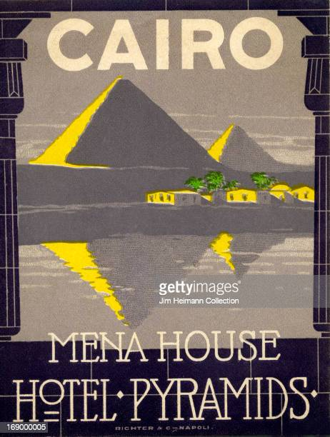A luggage label for Mena House Hotel in Cairo by Richter Co from 1927 in Egypt