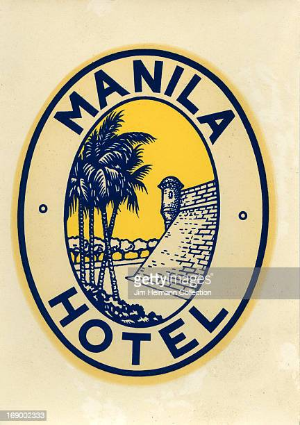 A luggage label for the Manila Hotel from 1940 in the Philippines