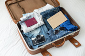 Luggage with clothes, other items