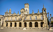 Historic town hall in the Spanish city of Lugo, community of Galicia.
