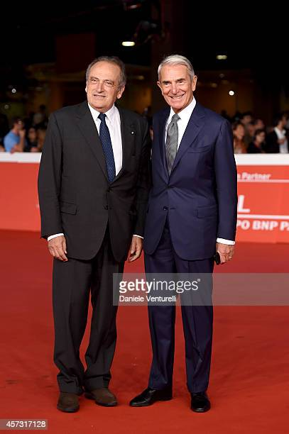 Luigi Abete and Carlo Rossella attend the Rome Film Festival Opening and 'Soap Opera' Red Carpet during the 9th Rome Film Festival at Auditorium...