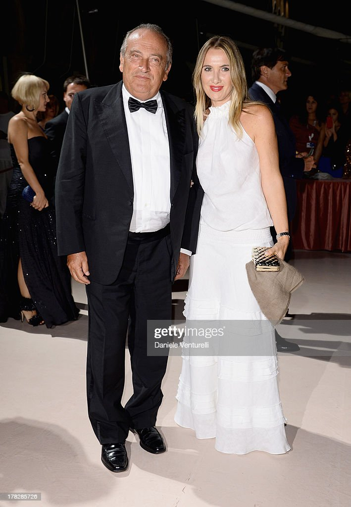 Luigi Abete and Desire Petrini attend the Opening Ceremony during The 70th Venice International Film Festival on August 28, 2013 in Venice, Italy.