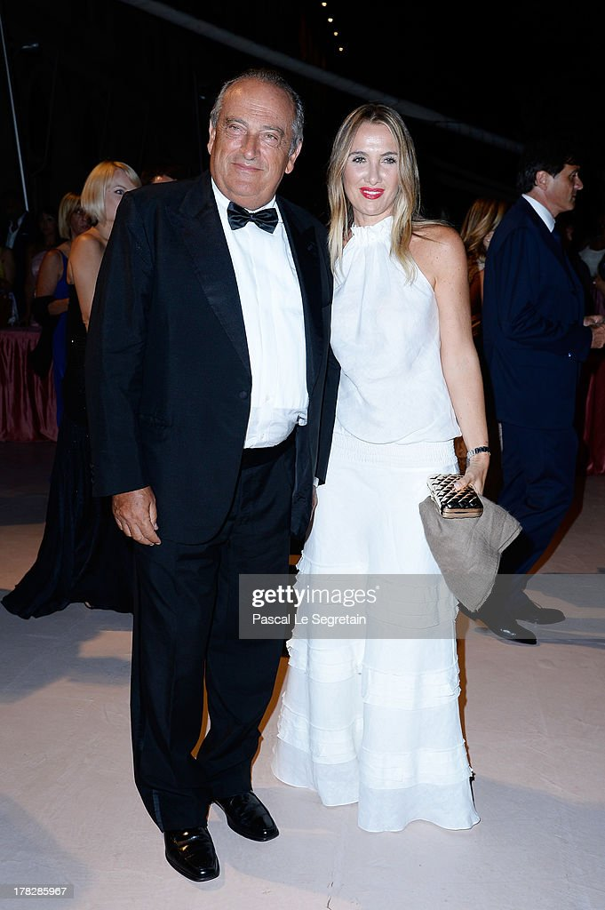 Luigi Abete and Desire Petrini attend the Opening Dinner Arrivals during the 70th Venice International Film Festival at the Hotel Excelsior on August 28, 2013 in Venice, Italy.