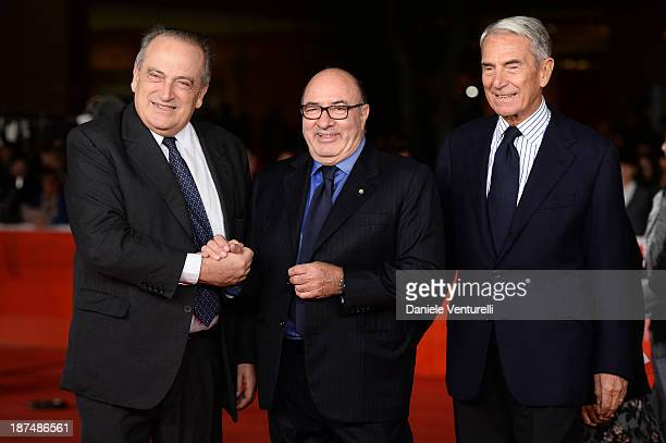 Luigi Abete Dante Ferretti and Carlo Rossella attend 'Dallas Buyers Club' Premiere during The 8th Rome Film Festival on November 9 2013 in Rome Italy
