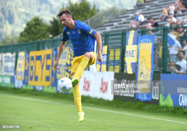 Luigi Alberto Scaglia of Parma Calcio in action during the preseason friendly match between Parma Calcio and Dro on July 30 2017 in Pinzolo near...