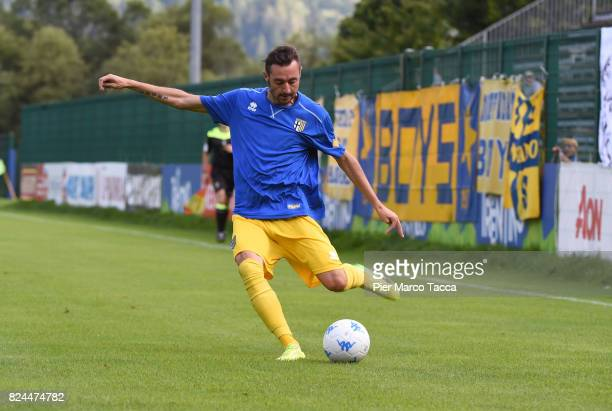Luigi Alberto Scagliaof Parma Calcio in action during the preseason friendly match between Parma Calcio and Dro on July 30 2017 in Pinzolo near...