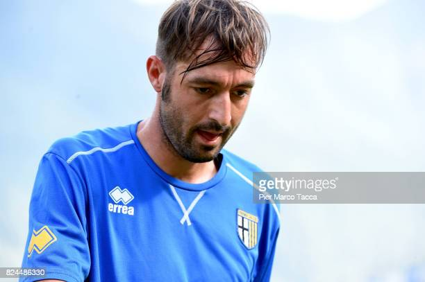 Luigi Alberto Scagliaof Parma Calcio looks during the preseason friendly match between Parma Calcio and Dro on July 30 2017 in Pinzolo near Trento...